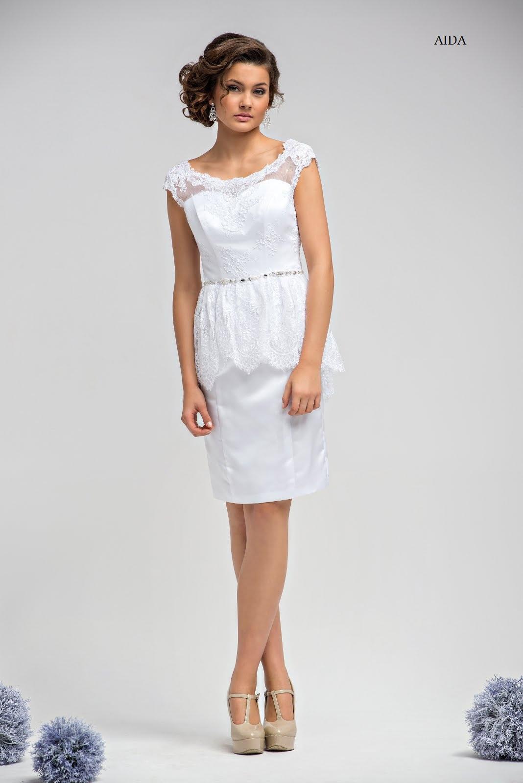Schößchenkleid für Standesamt Aida