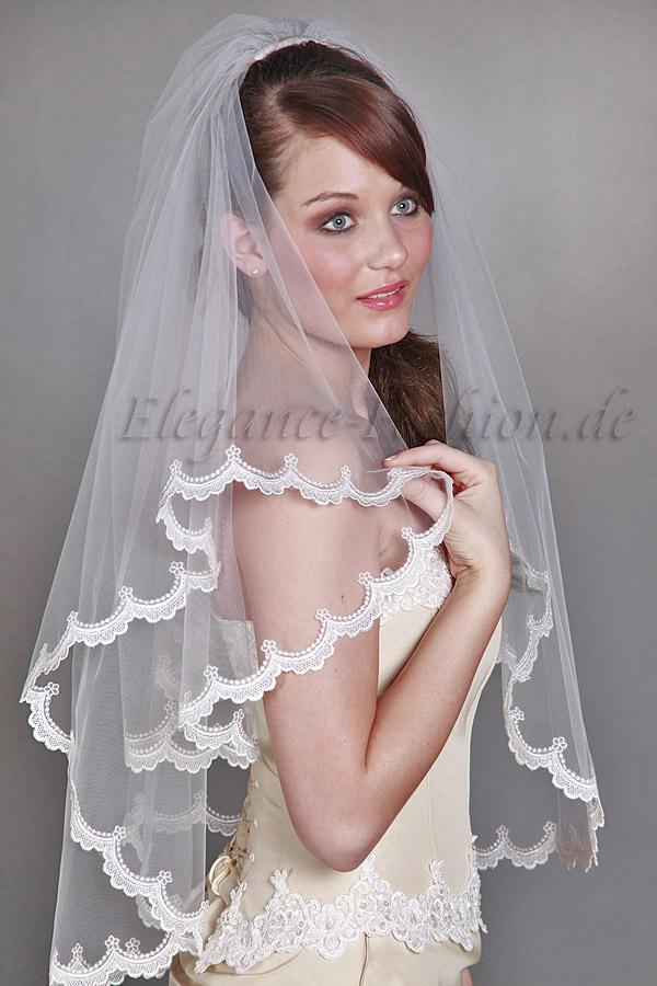 Brautschleier schleier for Brautschleier ivory einlagig